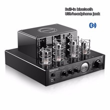 Black Nobsound MS-10D MKII Bluetooth/USB/headphone HIFI Stereo AMP audio amplifier 25W*2 Vaccum Tube AMP 110V-240V(China)