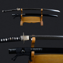 2016 Hot Sword Vintage Decorative Japanese Katana with Exquisite Rattan Saya 1095 Carbon Steel Clay Tempered Samurai Sword(China)