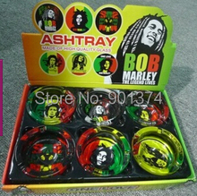 NEW bob marley ashtray for cigarette ash ,72pcs/lot ,-free shipping(China)