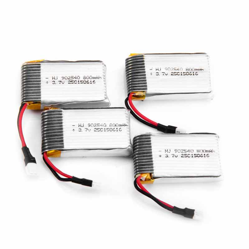 4Pcs 3.7V 800mAh Battery With 1 to 4 Balance Chargers Charging Set for Syma X5C<br><br>Aliexpress