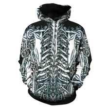 Women Men Sweatshirts Skeleton Digital Print Hooded Hoodie Spring Autumn Coats Long Sleeve Jackets Couple Clothes