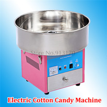 Cotton Candy Machine Candy Floss Maker Electric Floss Maker 220V Pink Blue Colors Stainless Steel Removable Bowl(China)