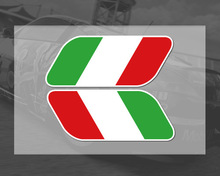 2017 NEW 2pcs Italian Italy Flag Stickers Fender Badge Emblems Decal Decor motorcycle car styling For Ferrari Fiat VW Golf skoda(China)