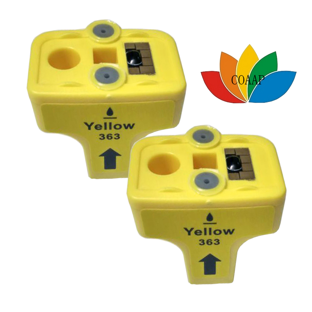 2x Yellow compatible hp363 HP 363 ink Cartridge for Photosmart 3310 7180 8230 8250 C5180 C6180 C6280 C7180 C7280 D7145 D7360<br><br>Aliexpress
