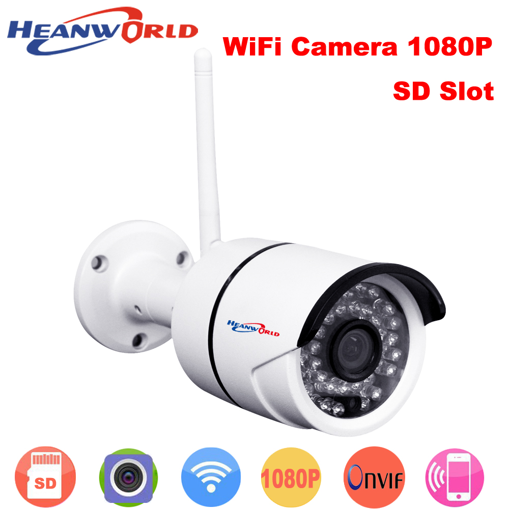 Heanworld Waterproof Onvif IP camera WIFI 2.0Megapixel 1080P HD Wireless Digital Security CCTV IP Cam IR Infrared Bullet camera<br>