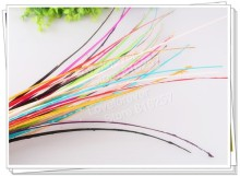 100PCS/LOT! 11 colors 35-45cm long Feather Ostrich Quill Striped Spine for making fascinators hats &millinerys feather craft