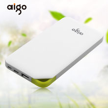 Buy Aigo 10000mAh Powerbank 2 Inputs Ultra Slim Power Bank Portable Charger External Battery Poverbank Iphone 4 6 7 Xiaomi for $17.54 in AliExpress store