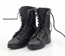 1:6 Scale US Soldier Combat Boots Model Straps 12 inches Male Action figure Shoes Empty Inside