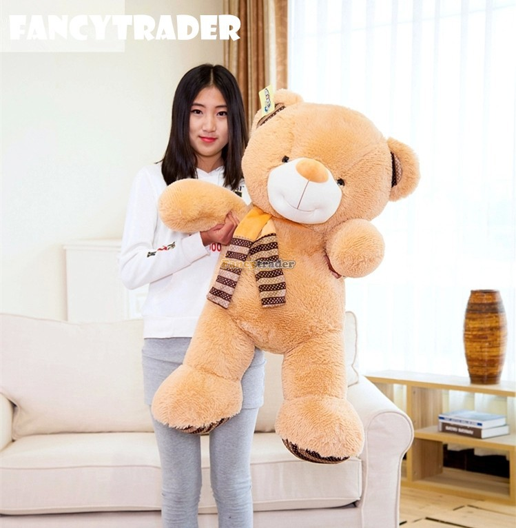 Fancytrader New Style High Quality Bear Toy Bestseller 39 100cm Giant Plush Stuffed Giant Bear 2 Colors! Free Shipping FT90539<br><br>Aliexpress
