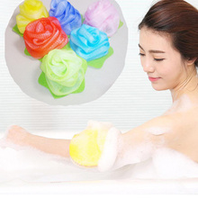 2pcs Towel Bath Ball Bath Tubs Shower Body Cleaning Mesh Shower Wash Nylon Sponge Product Loofah Flower Exfoliating  H7JP1