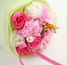 Hot Selling Scented & Natural Foam Soap Flowers Bouquet For Mother's Day / Valentine's Day / Birthday Gift / Wedding(China)