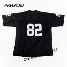 Retro star #82 Al Davis Embroidered Throwback Football Jersey(China)