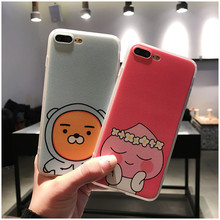 Cartoon Lovely Ryan Peach Case For iphone 6 6s 6plus 7 7plus Cute Animal Soft plastic Phone Case protect Back Cover Fundas