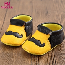 2017 fashion Toddler garden shoes Newborn Flower Soft Beard pattern Sole Anti-slip Baby Jean comfortable Toddler yellow shoes(China)