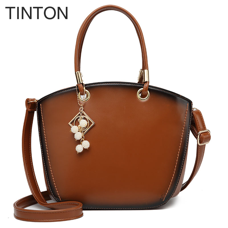 TINTON 2018 new ladies fashion Messenger bags womens elegant shoulder bag shell bag luxury handbags women designer handbags hot<br>