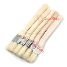 "5 Pcs / Lot 25mm 1"" Brush Brushes Bristles Perfect Adhesives Paint Brush Touchup Supplies Wooden Handle"