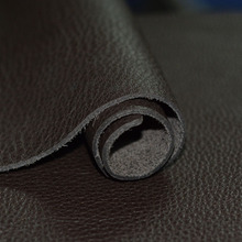 Wax horse leather black thick 1.4-1.6mm first layer genuine leather raw material leather diy traveler(China)