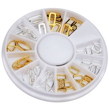 ELESSICAL Mixed Hollow Out Design Copper Nail Charms Nail Slice Wheel For Nail Beauty Salon Women Jewelry Decorations WY769