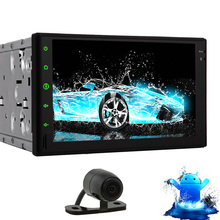 Android 4.4 Capacitive RDS CD Mirror BT Video GPS SD USB Car Stereo Radio Sub Touch Screen No-DVD Tablet Receiver PC