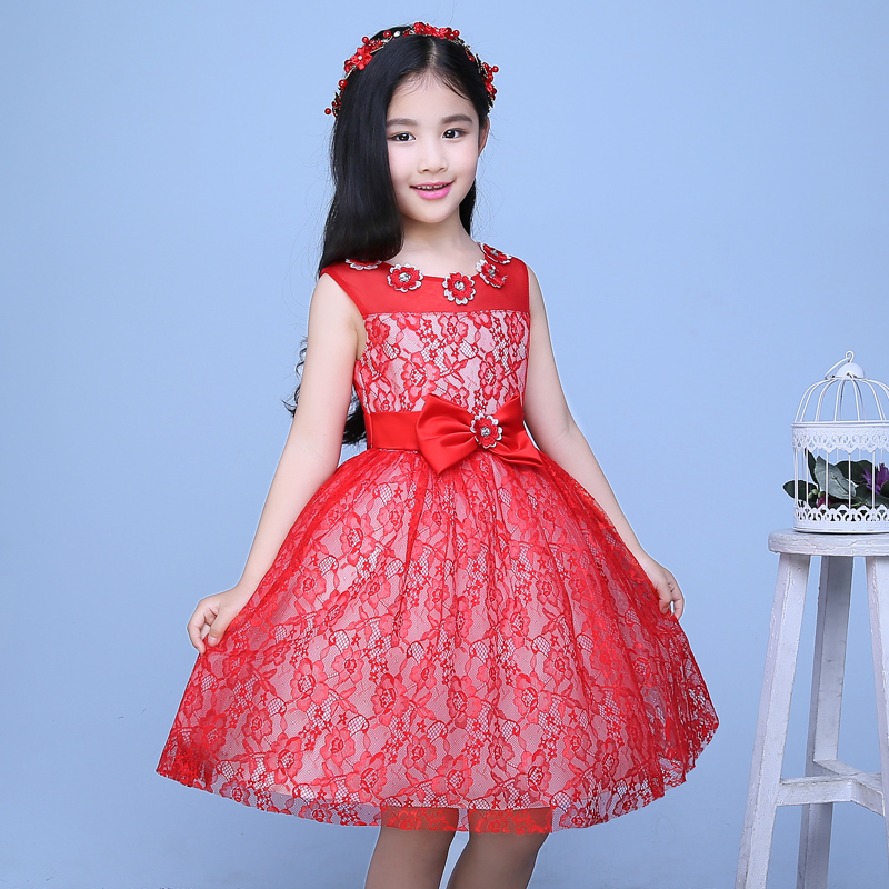 girls pageant dress for wedding party perform 2016 new tutu princess dress sleeveless floral ball gown flower girl dresses<br><br>Aliexpress