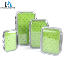 Maximumcatch Fly Fishing Box Silicone Insert Easy-grip Tackle Boxes Double Side Clear Lid(China)