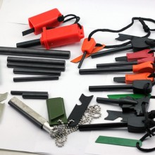 Survival Camping Magnesium Flint Stone Flint Fire Starter Lighter Gear Kit Green Color New Arrival