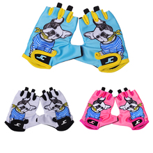 FIRELION Children Sports Outdoor Half Finger Cycling Gloves cute Breathable MTB bicycle Gloves kids Non-Slip Road Bike Riding