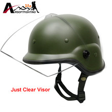 Airsoft Clear Visor for M88 PASGT Kelver Swat Helmet without Screws Tactical Helmet Lens Hunting Cycling Eye Face Protection