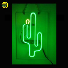 Neon Sign Cactus Bar Neon Signs Real Glass Tubes Neon Bulb Signboard lighted Signs Beer neon lights for sale customized Lamp(China)