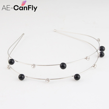 Korean Double Layer Hairband Cute Little Ball Candy Color Alice Band Women Head Jewelry 2F3022