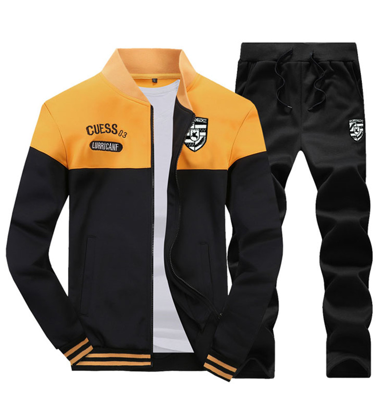 Two Piece Set Mens Tracksuit 12