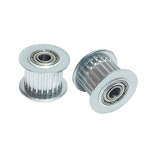 2PCS Tension Pulley HTD 3M Timing 22 Teeth Belt Idler Pulley Pitch 3mm fit for 3M Timing Belt Width 15mm Bearing Hole 6mm(China)