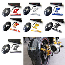 Motorcycle CNC Aluminum Rear Wheel Tire Fender Rear fender Bracket Motorbike Mudguard For Kawasaki Z125 RC150 2010-2015 7 Color(China)