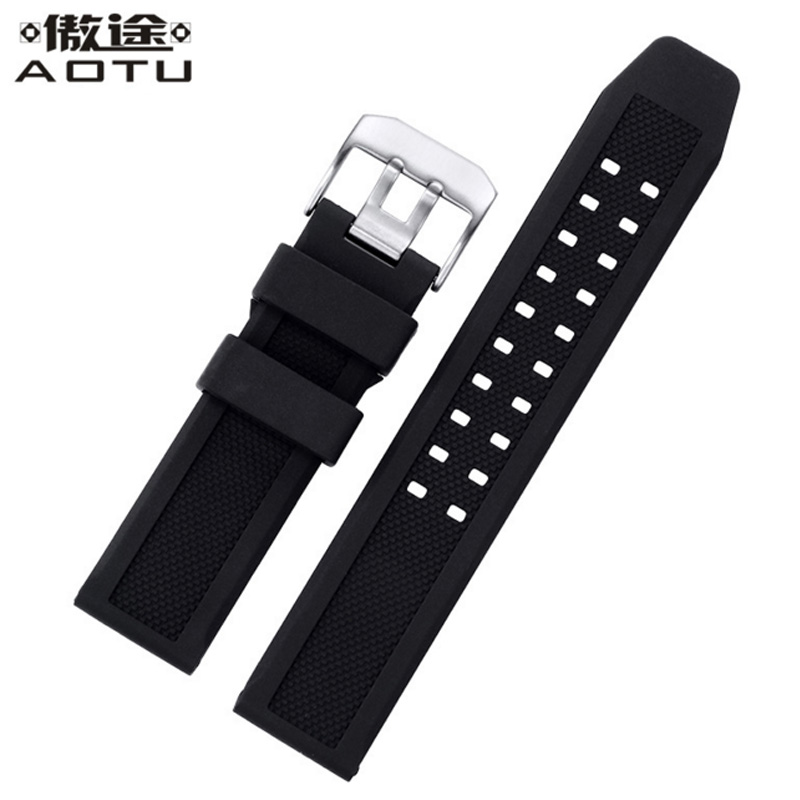 Silicone Watchbands For Luminox 1820|7251|3050|3051 Watches Band Men 23mm Top Quality Watch Straps Soft Male Clock Strap Belt<br>