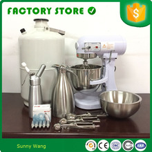 liquid nitrogen ice cream making machine price for sale with nitrogen injector for making tasty ice cream(China)