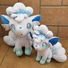 "3pcs/lot Anime 5""/7""/9"" Alola Vulpix Stuffed Plush Doll Ice Six-tails Fox Kids Gifts Toys Children Gifts SA1298(China)"
