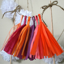 Wedding paper curtain tassel ribbon garland holiday decorations arranged marriage room party background pictures 5pcs/ bag