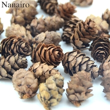 50pcs Natural Cheap Mini Pine Nuts Artificial Fake Fruit Vegetable For Home Wedding Decoration Cognitive Toy  Table Decoration