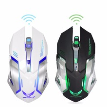 Rechargeable Wireless Mouse 2400DPI Gaming Mouse 2.4G Built-in Lithium Battery Mouse Gamer 6 Buttons Gaming Mice