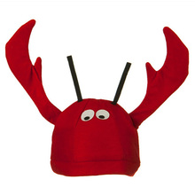 Funny Unique Cute Lobster Hat for Halloween Christmas Party Cosplay Costumes Birthday Gift - Red