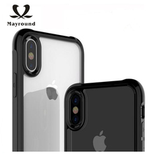 MAYROUND Stereo Speaker Conversion Play Phone Shell For Apple iPhone X ten 10 Cover Thin And Light Clear Back Skin Cases Gloosy(China)