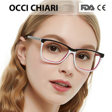 0faa3318d1 OCCI CHIARI Fashion Big rim Eyeglasses 54cm For Women Spring Hinge  Prescription Lens Medical Optical Glasses Frame W-ZOPPI