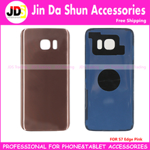 50 For Samsung Galaxy S7 Edge G930 G935F G9350 Back Housing Battery Door Cover Rear Phone Case with LOGO+Adhesive Gule+IMEI Code(China)