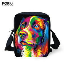 Casual Women Messenger Bags Painting Dog Crossbody Bags for Girls High Quality Children Shoulder Bag Student Kids Messenger Bag