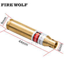 FIRE WOLF Hunting Boresighter Tactical 223REM Red Dot Laser Cartridge Bore Sighter for Rifles Scope(China)