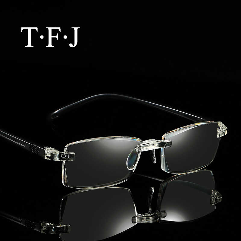 7485e68fdc Portable reading glasses men magnifier eyewear women diopter rimless  eyeglasses for sight Presbyopia lunettes de lecture