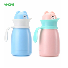 Cute Cat Shaped Stainless Steel Thermal Insulation Bottle Insulated Water Bottles Travel Mug Coffee Tea Vacuum Flasks Kid Gift
