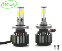 360lahl 4 chips 84W 12000lm Car Headlights H4 LED H7 H13 9004 9007 H11 9005 9006 CAR LED HEADLIGHT FOG Front Bulb Automobiles