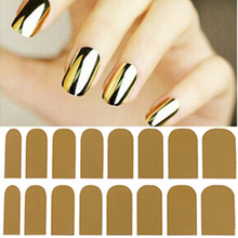 1 Pcs/Sheet Gold Nail Sticker Transfor Foil Water Decals Fingernail Art Stickers Stamping Plates Flex Tapes Nail Wraps Manicure(China)