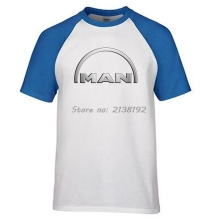 MAN Truck Man T-Shirt Raglan Sleeve Printed Cotton Car Brand Logo Tshirt T Shirt Men Funny Clothes Mens Male 3D Fashion Mens